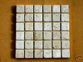 "Travertine 36 Pc. Mosaic Tile Molds Make 1000s of 13""x13 Floor Wall Tile... - $139.99"