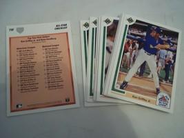 1991 UPPER DECK FINAL EDITION 21 CARD ALL STAR BASEBALL SET GRIFFEY GWYN... - $10.69