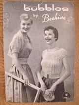 Vintage Beehive Knitting Patterns LADIES Bolero Sheath Dress Hat Cape Belt Scarf - $6.95