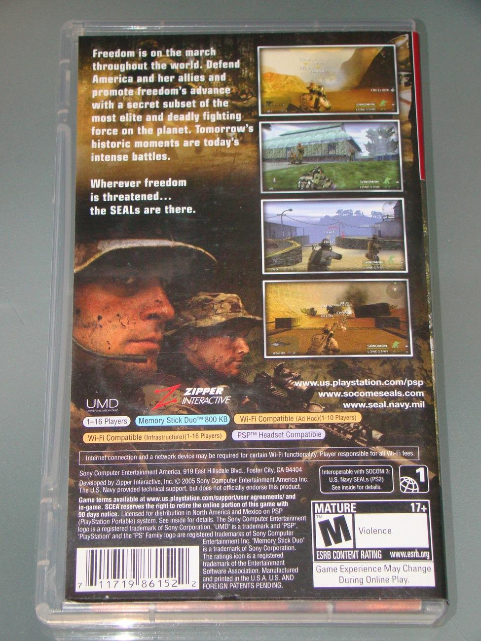Sony PSP UMD GAME - SOCOM - U.S. NAVY SEALS FIRE TEAM BRAVO (Complete)