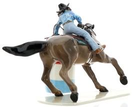 Hagen-Renaker Specialties Ceramic Horse Figurine Rodeo Barrel Racer with Barrel image 5