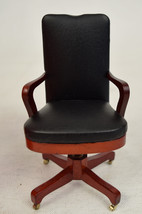 Dollhouse Leather Look Office Desk Chair Town Square Miniatures  - $24.65