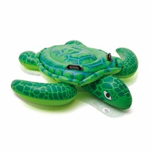 """Inflatable Turtle Pool Ride-on Floating Water Swim Toys for Kids 59"""" x 50"""" - $29.65"""