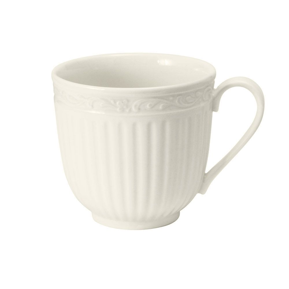 "Mikasa® - ""Italian Countryside"" 8 ounce footed Tea / coffee Cup WHITE SOLID NEW - $19.50"