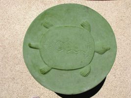 "Round Concrete Turtle Mold 16""x2"" Makes Stepping Stones For About $2.00 Each image 3"