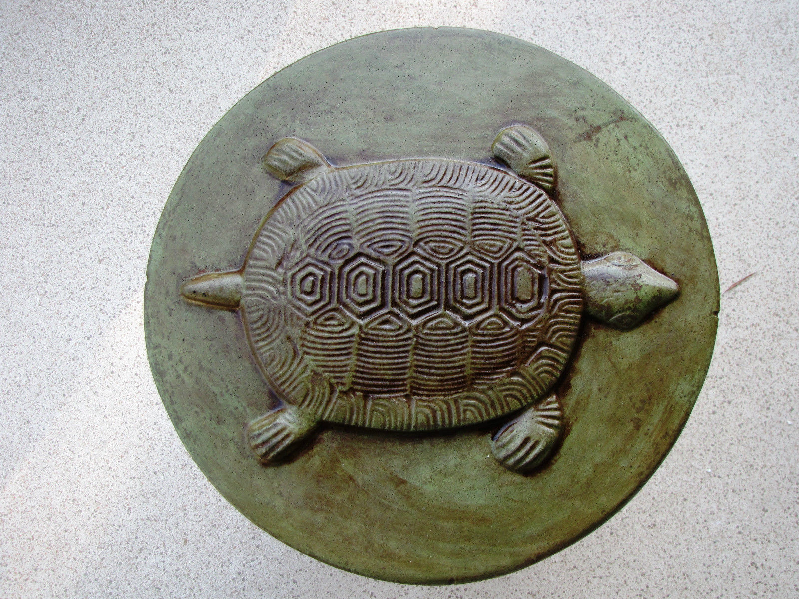 "Round Concrete Turtle Mold 16""x2"" Makes Stepping Stones For About $2.00 Each"