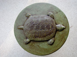 "Round Concrete Turtle Mold 16""x2"" Makes Stepping Stones For About $2.00 Each image 4"