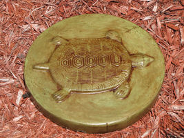 "Round Concrete Turtle Mold 16""x2"" Makes Stepping Stones For About $2.00 Each image 5"