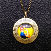 Rosie The Rivetor Cabochon Locket Necklace >> Combin Shipping  - $8.66
