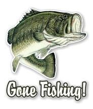 GONE FISHING Largemouth Bass Fish Decal / Sticker Die cut - $3.46+