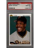 BARRY BONDS 1992 Upper Deck #134 PSA 10 (POP 34)- San Francisco Giants -... - $73.26