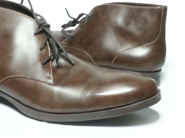 Cole Haan Men Size 10.5 Brown Leather Copley Chukka Boots Made in India New Box image 2