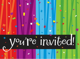 Milestone 50th You're Invited Birthday Party Invitations Celebrate 8 ct - $3.99