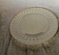 Vintage Anchor Hocking White Milk Glass Dinner Plate Swirl Opaque Oven P... - $5.23
