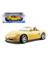 Porsche Boxster S Yellow Convertible 1/18 Diecast Model Car by Maisto - $52.78