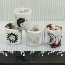 Vintage Ensemble De Ceramicsun Lune Yin Yang Bougeoir g50 - $19.64