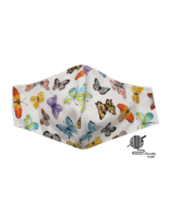Butterfly Face Mask Butterflies Multi Pastel Fitted Adjustable Facemask ... - $8.00