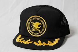 Vtg NRA National Rifle Association Gold Leaf Brim Mesh Snapback Hat/Cap USA - $33.37