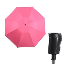 HappyGO Automatic Three-fold Black Rubber Sun Protection UV reverse Trav... - $27.57