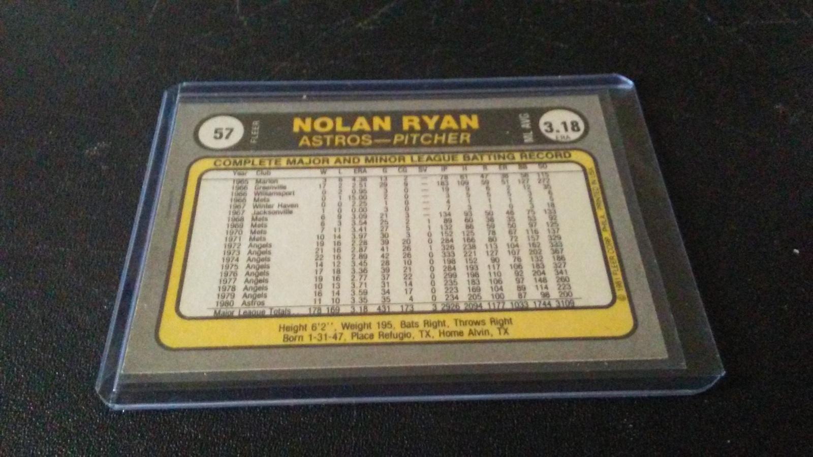 1981 Fleer Nolan Ryan image 2