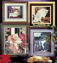 Cross My Heart Counted Cross Stitch Cats Kitten Feline Elegance Patterns  - $12.99