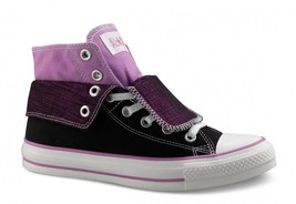 Converse All Star Chuck Taylor Ct Two Fold Hi Black Violet Shoes Sneaker 5 Wms - $25.00