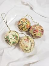 4 vintage christmas ornaments made in Tawain - $24.74