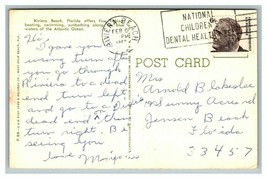 """Postcard Riviera Beach FL Florida """"It's Great to be in""""  Curt Teich Post... - $8.90"""