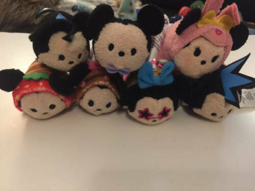 "Disney TSUM TSUM Minnie Mickey 3.5"" Mini Plush Lot 7 ct"