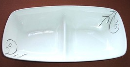 Lenox Simply Fine VOILA Divided Rectangular Server Dish 2-Section Tray White New - $43.90