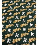 "Fabric Piece Oakland A's Athletics Baseball California MLB 10"" X 72"" - $7.41"
