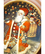 A Grand Old Santa in America Vintage Franklin Mint by Gennady Spirin Ova... - $62.90