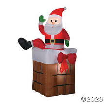 """60"""" Blow Up Inflatable Climbing Santa in Chimney - $129.73"""