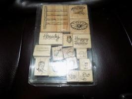 Stampin' Up-Happy Trails Stamp Set - 1996  COMPLETE SET EUC - $67.50