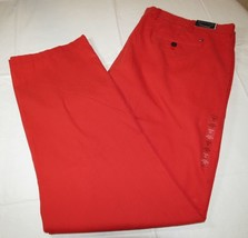 Men's Tommy Hilfiger pants 40 W 32 L custom fit 78A6633 620 red NWT - $47.51