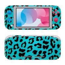 Blue Leopard Fur Nintendo Switch Skin for Nintendo Switch Lite Console  - $19.00