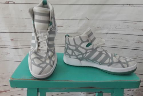 Adidas Fit Foam Soft Comfort grey and white sneakers well Ankle Lace up 9 mens