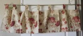 Waverly Garden Room Norfolk Rose Tab Top Valance - $24.99