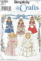 "Simplicity Crafts#8766-Doll Clothes 16"" & 18"" Collector  Dolls-Too Cute!!! - $4.95"