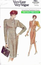 Vogue 7061 Dress & Top (18-22 B40-44) Womens Vintage Sewing Pattern UC FF - $11.27