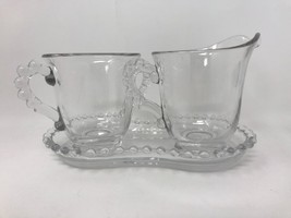Candlewick Imperial Glass Creamer Sugar Underplate Tray 3 pc 400/2930 (#... - $24.70