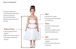 Cute Girls Pageant Dress 2018 Wedding Flower Girl Dresses Ribbon Party Prom Gown image 8