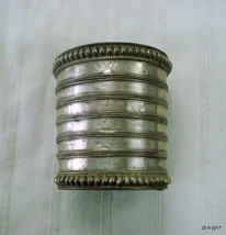 vintage antique tribal old silver bracelet bangle cuff ethnic jewelry - $193.05