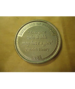 NRA PATRICK HENRY QUOTE MEDALLION COLLECTOR'S ROUND    > BAG B9  - $6.43