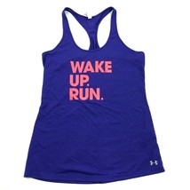 NEW Under Armour WAKE UP RUN Tank Top Womens Blue Racerback M Loose Fit ... - $21.63
