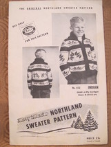Vintage Mary Maxim Knitting Patterns CHILDRENS Cardigan Sweater INDIAN D... - $6.95