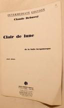 Vintage Clair De Lune Sheet Music Claude Debussy 1947 - $7.91