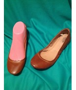 MOSSIMO SUPPLY COMPANY WOMEN'S COGNAC BROWN BALLET FLATS SIZE 8M SHOES - $18.50