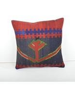 kilim pillow 16x16inc kilim Cushion Cover,Ethnic Kilim  Pillow 40x40cm - $49.00