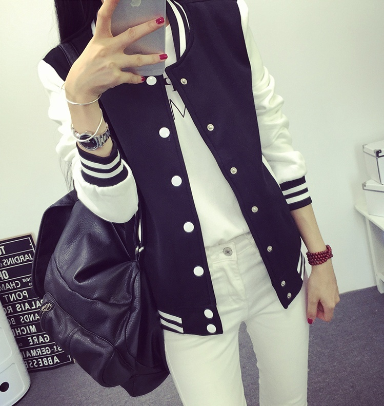 2018 Fashion Jackets Baseball Coat Women and Men Size S-3XL